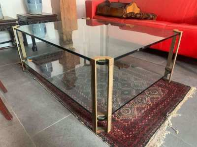 Glass art deco table