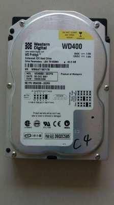 Western Digital 40GB 7200RPM 2MB Cache IDE Bulk-OEM Hard Drive WD400BB