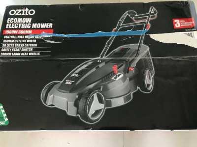 New 1500 watt Ozito electric lawn mower still in box