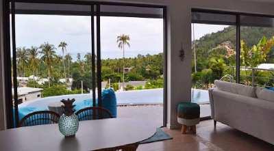 For sale sea view villa in Chaweng Noi Koh Samui
