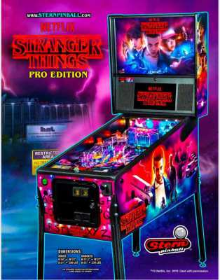 Original Stern Mechanical Pinball : Stranger Things Pro or Premium Ed.