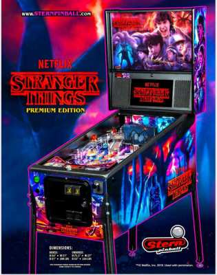 Original Stern Mechanical Pinball : Stranger Things Pro or Premium Ed.