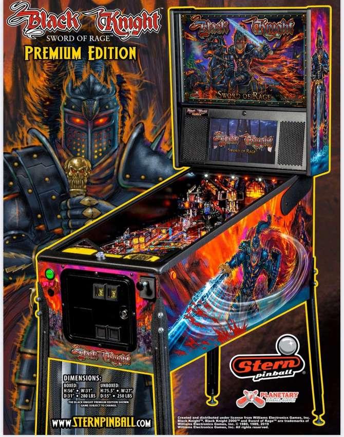 Original Stern Mechanical Pinball BLACK KNIGHT: SWORD OF RAGE Premium