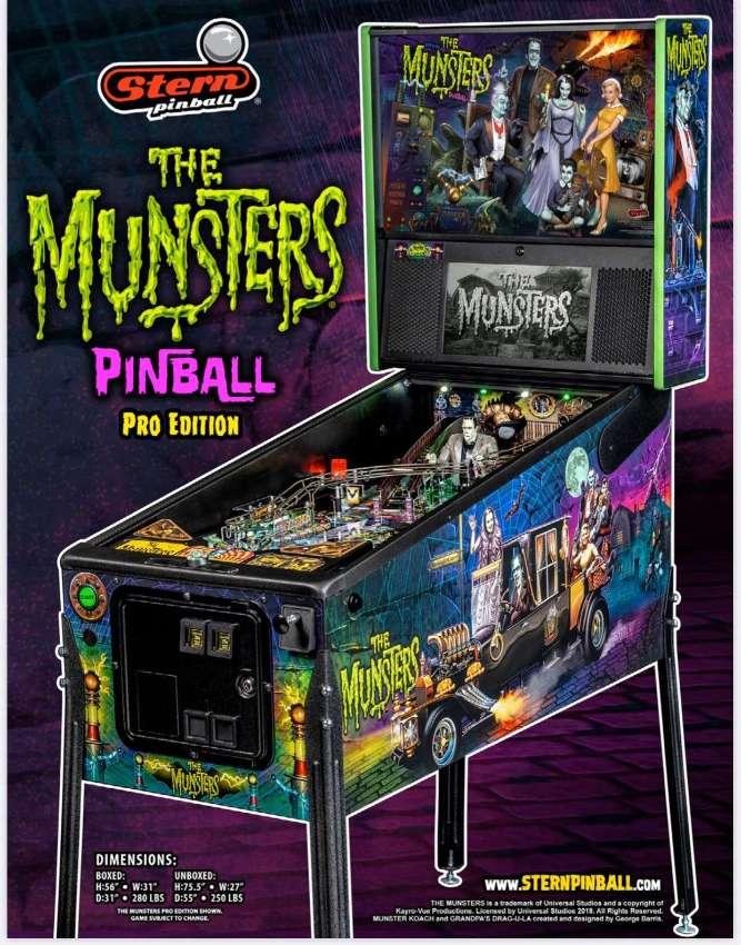 Original Stern Mechanical Pinball : THE MUNSTERS pro Edition