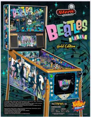 Original Stern Mechanical Pinball : T H E   B E A T L E S Gold Edition