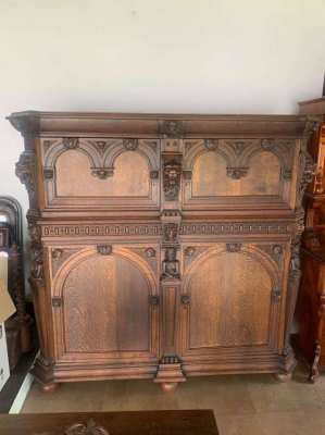 Antique renaissance cabinet 18th century