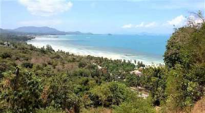 704 sqm sea view land for sale in Bang Makham - Koh Samui