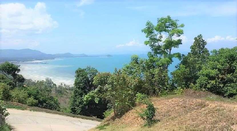 704 sqm sea view land for sale in Bang Makham - Koh Samui