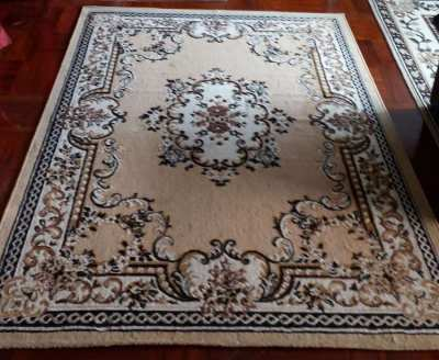 NEW!! Cream with design Fiber Beautiful Carpet Good Quality