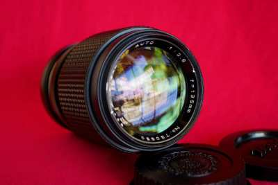 Focal MC Auto 135mm F2.8 Portrait Lens Minolta MD Mount