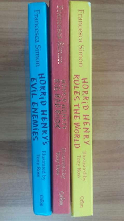 3 HORRID HENRY'S, Rules the World-Big Bad Book-Evil Enemies.