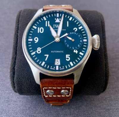 IWC Big Pilot Le Petit Prince Midnight Blue Dial Automatic Mens Watch