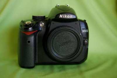 Nikon D5000 DSLR camera Black Body