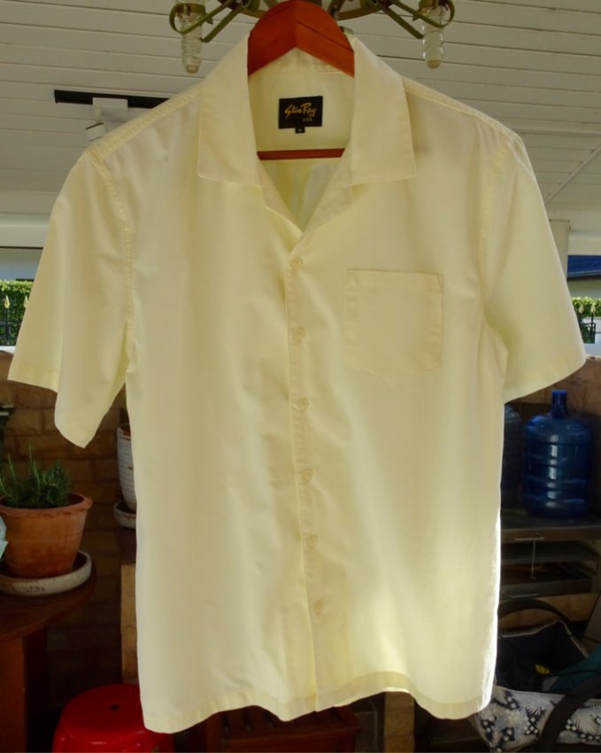 BRAND NEW STAN RAY CAMP COLLAR SHIRT —BUTTER (M)