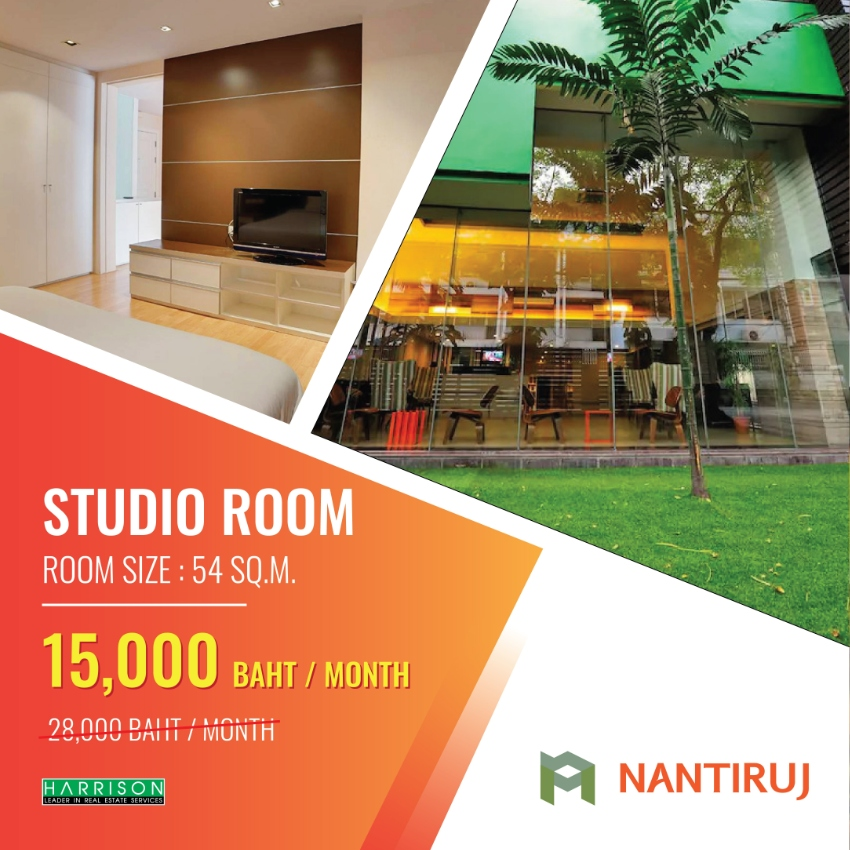 For rent Nantiruj Tower Sukhumvit soi 8 BTS Nana. Only 15,000 THB