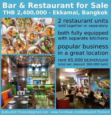 2 Bar & Restaurant Units for Takeover