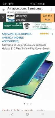 Original Samsung s10 wallet case, green