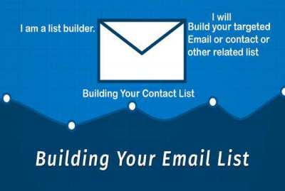 I will do lead generation to build your target email contact list
