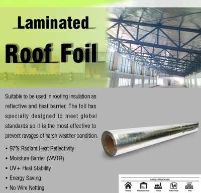 Laminated Roof Foil แผ่นสะท้อนความร้อนสำหรับหลังคา