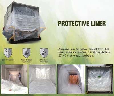 Protective Liner ถุงบรรจุสินค้าภายในตู้คอนเทรนเนอร์ขนาดใหญ่ป้องกันการป