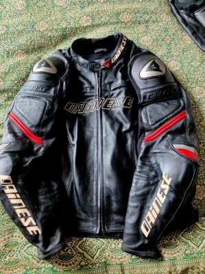 Dianese Motorcycle  Racing Leathers - Black Jacket & Trousers