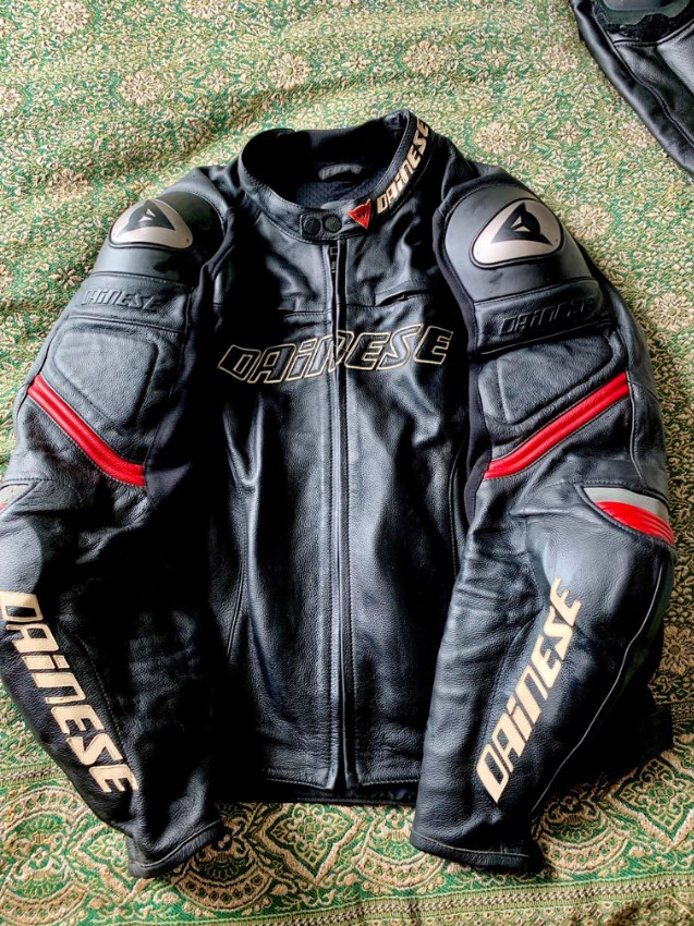 Dianese Motorcycle  Racing Leathers - Black Jacket & Trousers