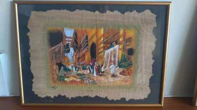 60 yr old papyrus paintings from Egypt