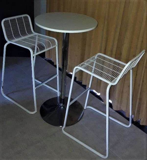 High chairs and table