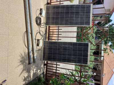 2 SOLARTRON SOLAR PANELS WITH SEPARATE INVERTERS