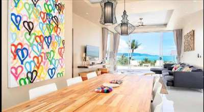 For sale villa sea view in Bophut Koh Samui