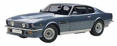 AUTOART 1/18 ASTON MARTIN V8 VANTAGE 1985 SILVER BLUE