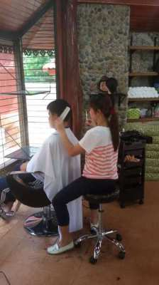 Beauty Shop Hair Dressing Stool