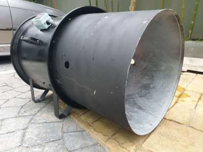 Blower for foam machine with an extension