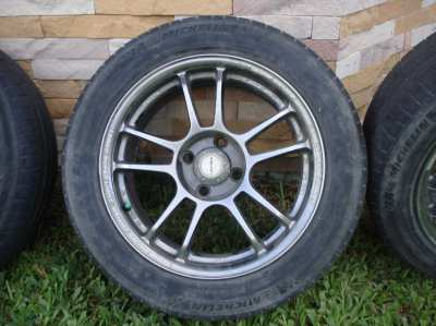 4-15 INCH, ALLOY WHEELS, FIT NISSAN AND SIMILAR 4 BOLT PATTERN VEHICLE