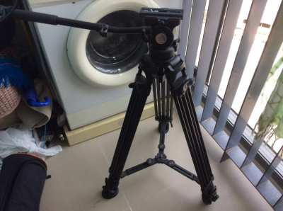 E-Image Video Fluid Head GH05 Ikan Legs Leveling Head 75mm Bowl