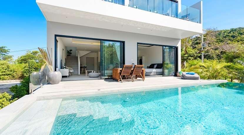 For sale sea view villa in Plai Laem Koh Samui - 3 bedrooms - pool