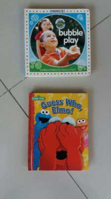 Baby Books  Bubble Play Gymboree-Guess Who, Elmo-Sesame Street Pop-Up