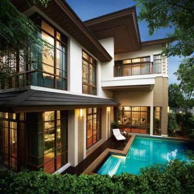 House for rent in Sansiri Sukhumvit 67 with swimming pool