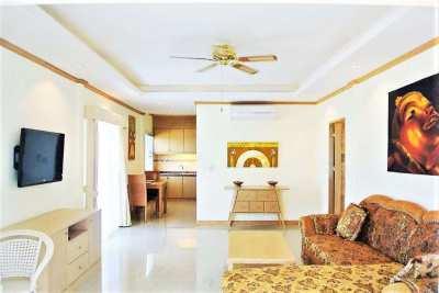 Large 1 bed sea view condo at Baan Suan Lalana Jomtien – price reducti