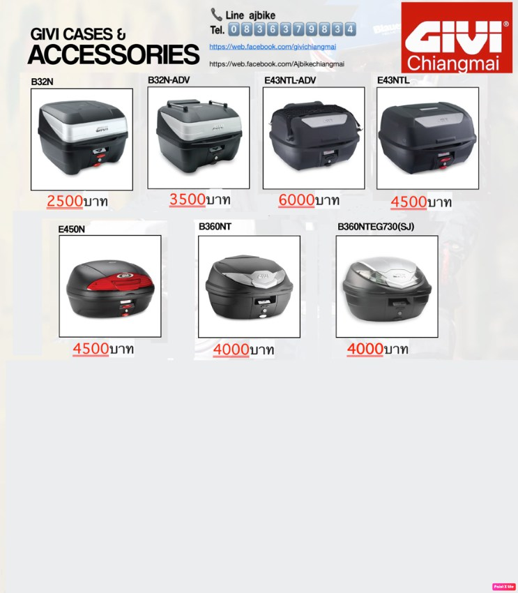 New givi top box 32-45l