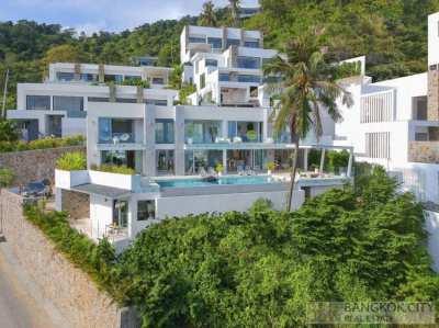 Magnificent Sea-View 5 Bedroom Pool Villa in Bophut Hills Koh Samui