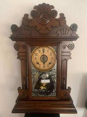 Antique standing-hanging clock 002