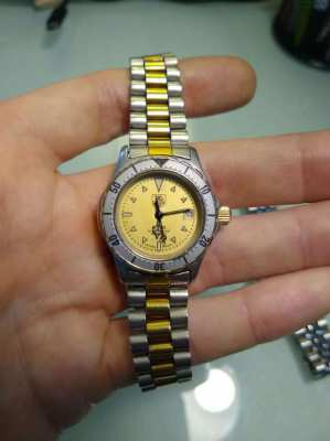 Genuine Tag Heuer 974.008 Lady Two Tone Gold Watch