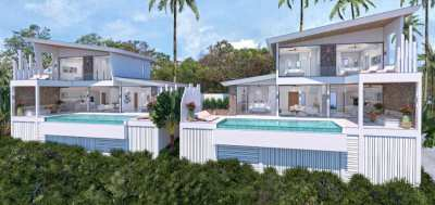 3 Bedroom Seaview Villa in Bophut