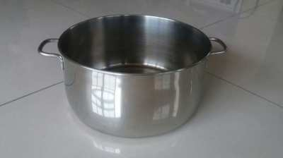 D: 27cm H: 13cm-Huge Stainless Steel Cook Pot w Multi Layer Bottom