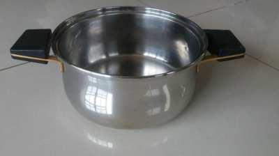 D: 20cm H: 8.5cm-Heavy Duty Stainless Steel Pot Multi-Layer Bottom