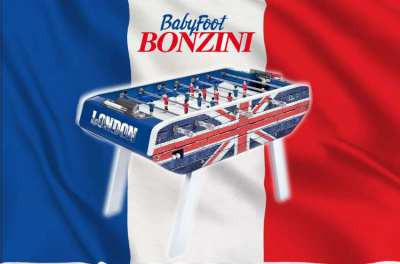 Babyfoot Bonzini B90 – UK Union Jack Brick design Foosball Table