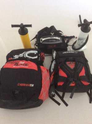 Kiteboarding setup