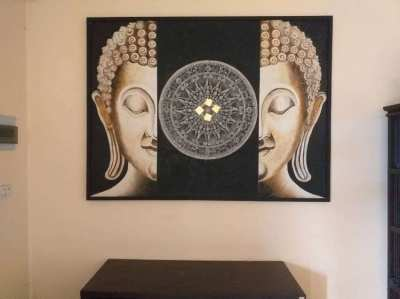 SUPER PAINTING OF A BUDDHA 170x130 CM !!!