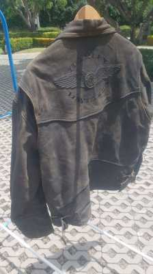 Harley Davidson Clothing (leather jacket + leather trousers)
